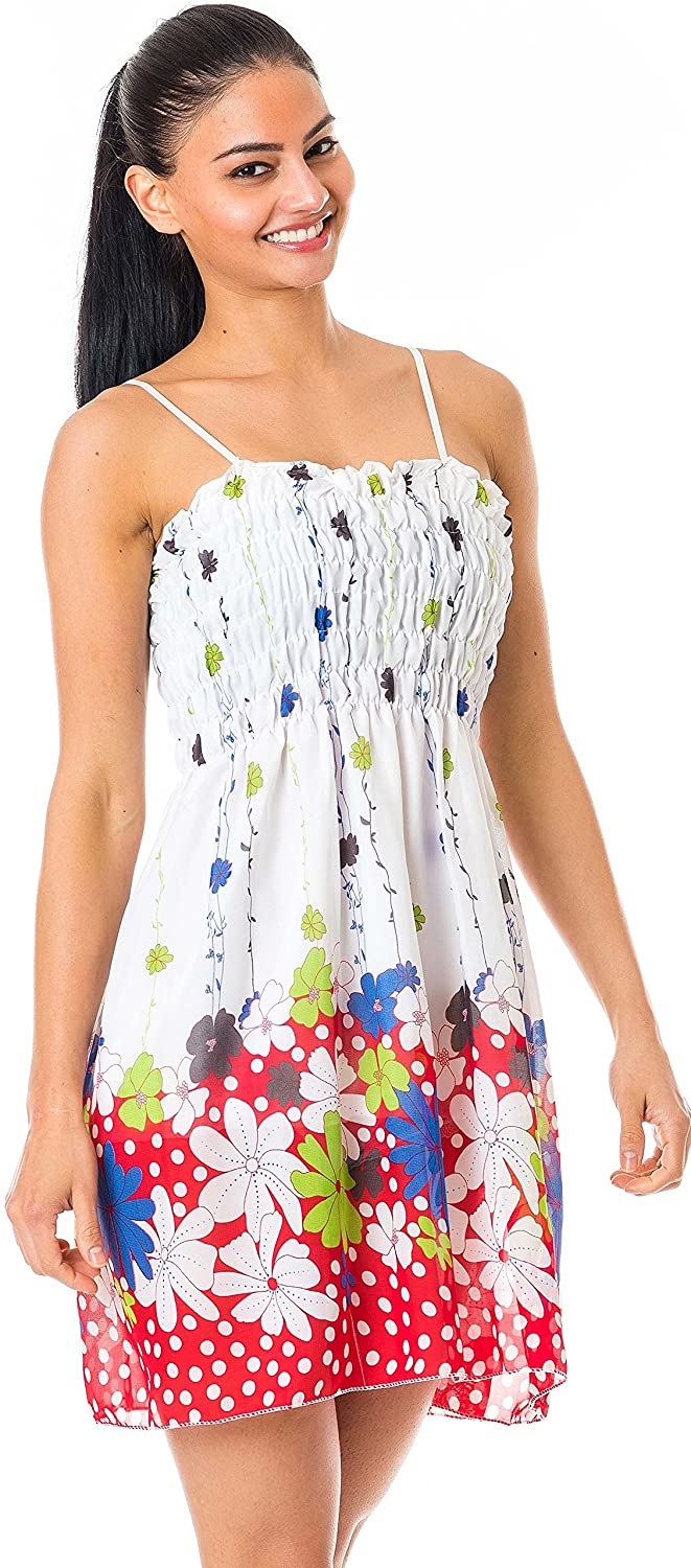 a5185ad7ddc3 IgorBella Floral Sienna Lady Woman Girl s Summer Casual Sleeveless Evening  Party Cocktail Lace Short Mini Top Dress  Amazon.co.uk  Clothing