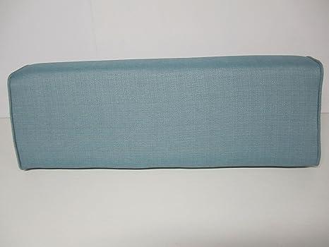 Amazon.com: Wedge cojín cilíndrico con tapa (linen-turquoise ...