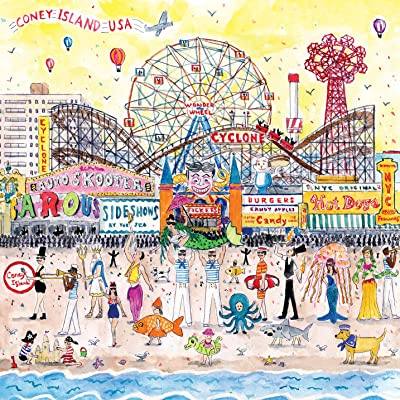Galison Michael Storrings Jigsaw Puzzle, Summer at The Amusement Park, 500 Pieces, 20 x 20, Great Family Puzzle to Enjoy Together: Galison, Storrings, Michael: Toys & Games