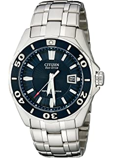 02d57928912 Citizen Men s BL1258-53L The Signature Collection Blue Dial Stainless Steel  Watch