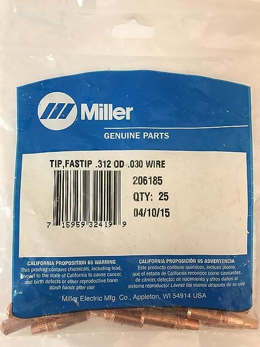 Miller 206185 Tip, Fastip .312 OD .030 Wire | Pkg = 25 - - Amazon.com