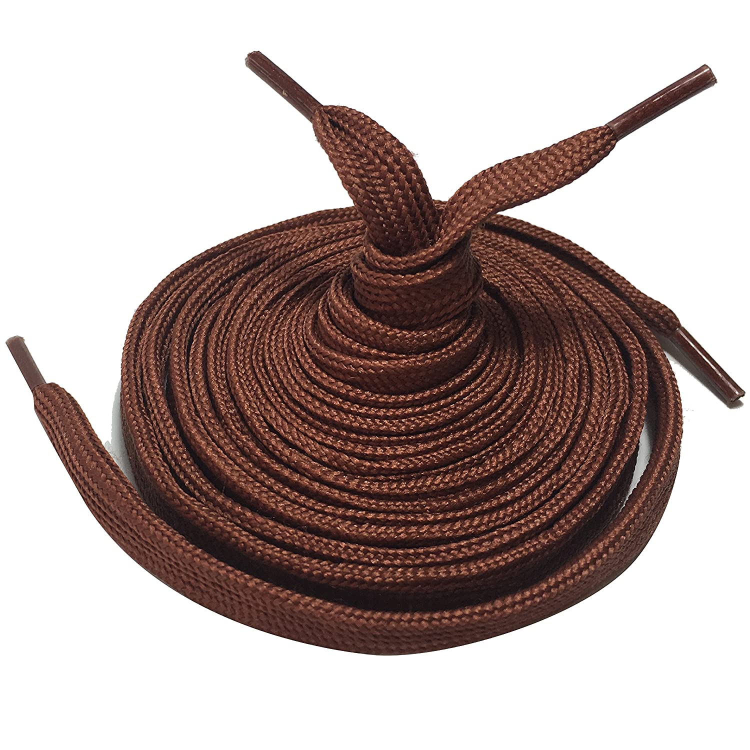 2 Pairs of Shoe Laces Boot Shoelaces. Round or Flat, 75cm to 210cm lengths