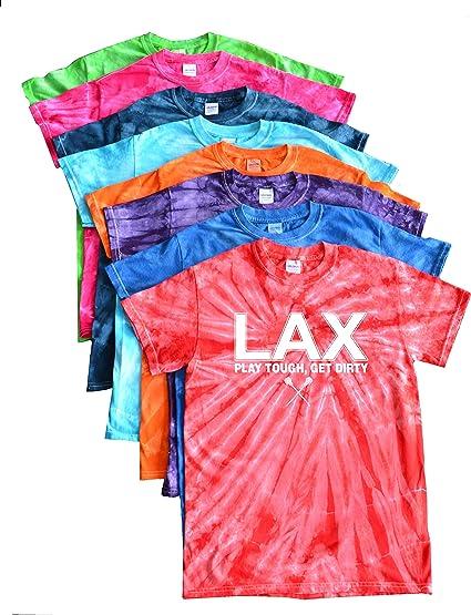 White LAX Logo JANT girl Lacrosse Tie Dye T-Shirt