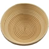 Adore Amore - 10 inch Round Banneton Bread Proofing Basket Removable Linen Cloth Liner Natural Eco-Friendly Rattan Cane Brotform Large Bowl Artisan Bake Proving Loaf Healthy Homemade Oven Risen Dough by Adore Amore