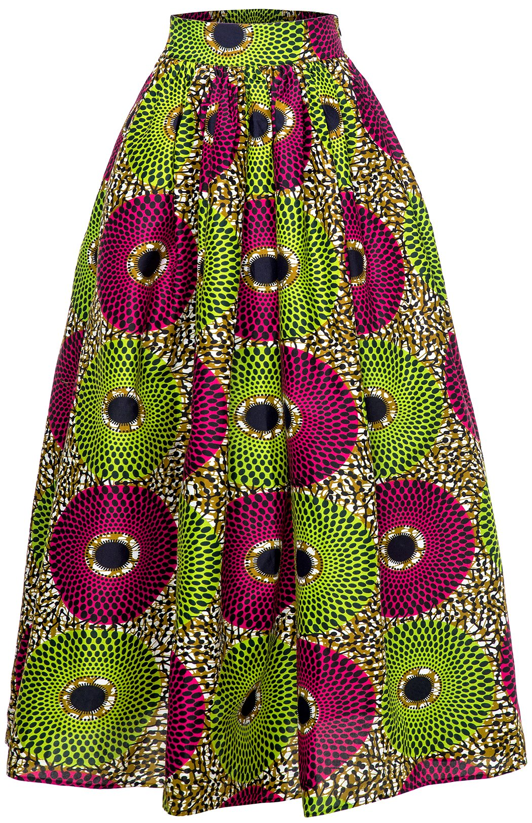 Women African Traditional Costume Ankara Print Skirt Dashiki Long Skirts (X-Large, B)