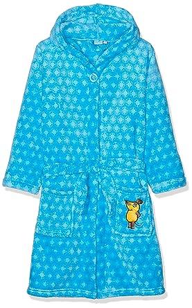 Playshoes Die Maus Kinder Fleece-Bademantel Blau, Traje de baño Niños, Azul (