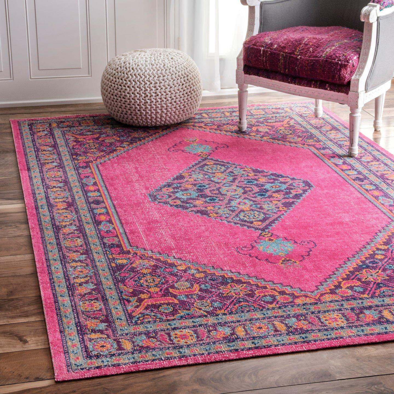 nuLOOM Palmetto Vintage Area Rug, 4 x 6 , Pink