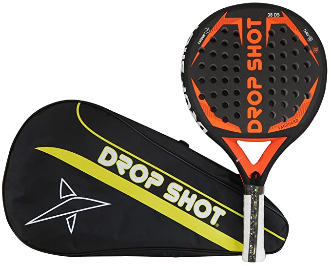 Amazon.com : Drop Shot Vanguard Padel Tennis Racquet, Unisex Adult, Black, 360 - 385 gr : Sports & Outdoors