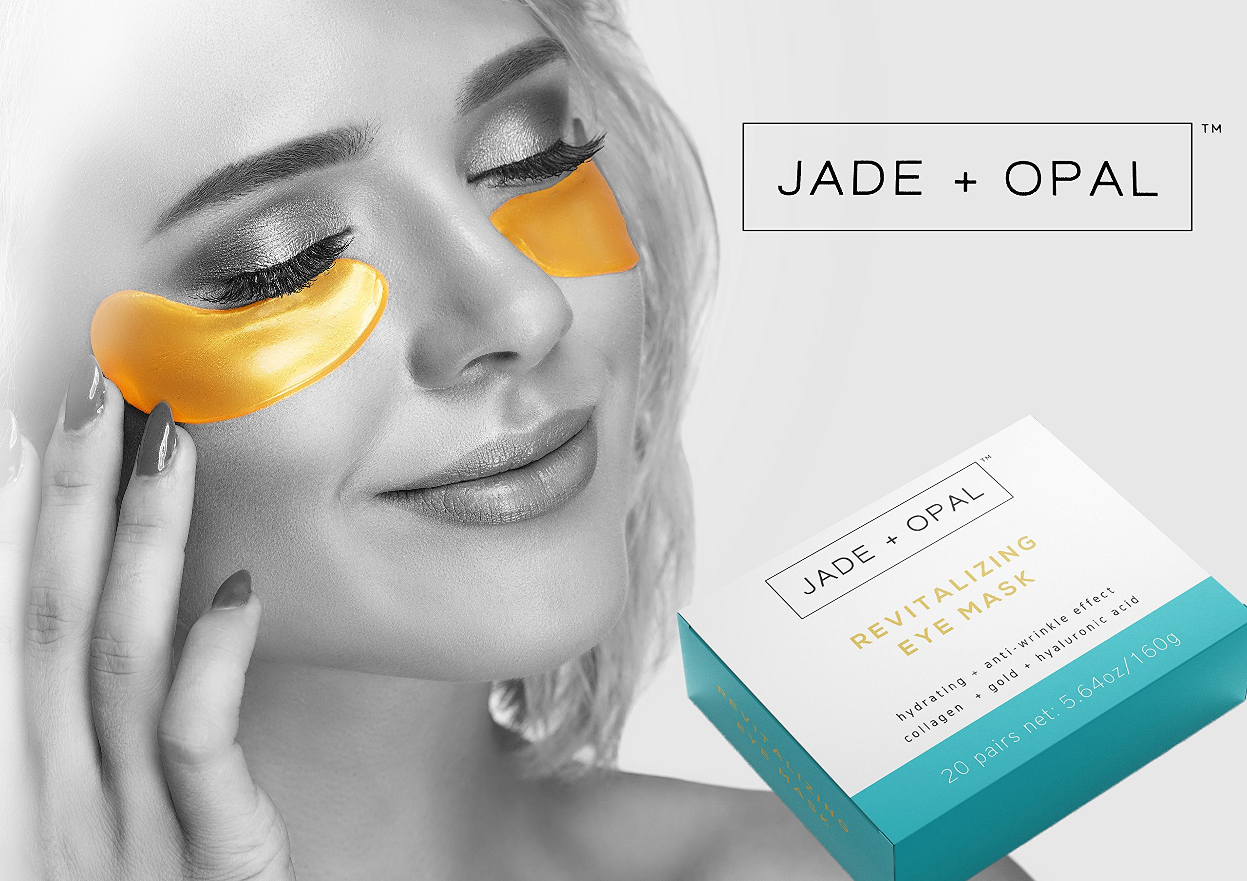 Jade and Opal Gold Collagen Revitalizing Eye Mask, 20 Pairs (Pack of 1) by Jade and Opal (Image #3)