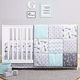 The Peanutshell Giraffe Crib Bedding Set for a Boy, Girl and Unisex Nursery - Baby Quilt, Fitted Crib Sheet, Crib Skirt…