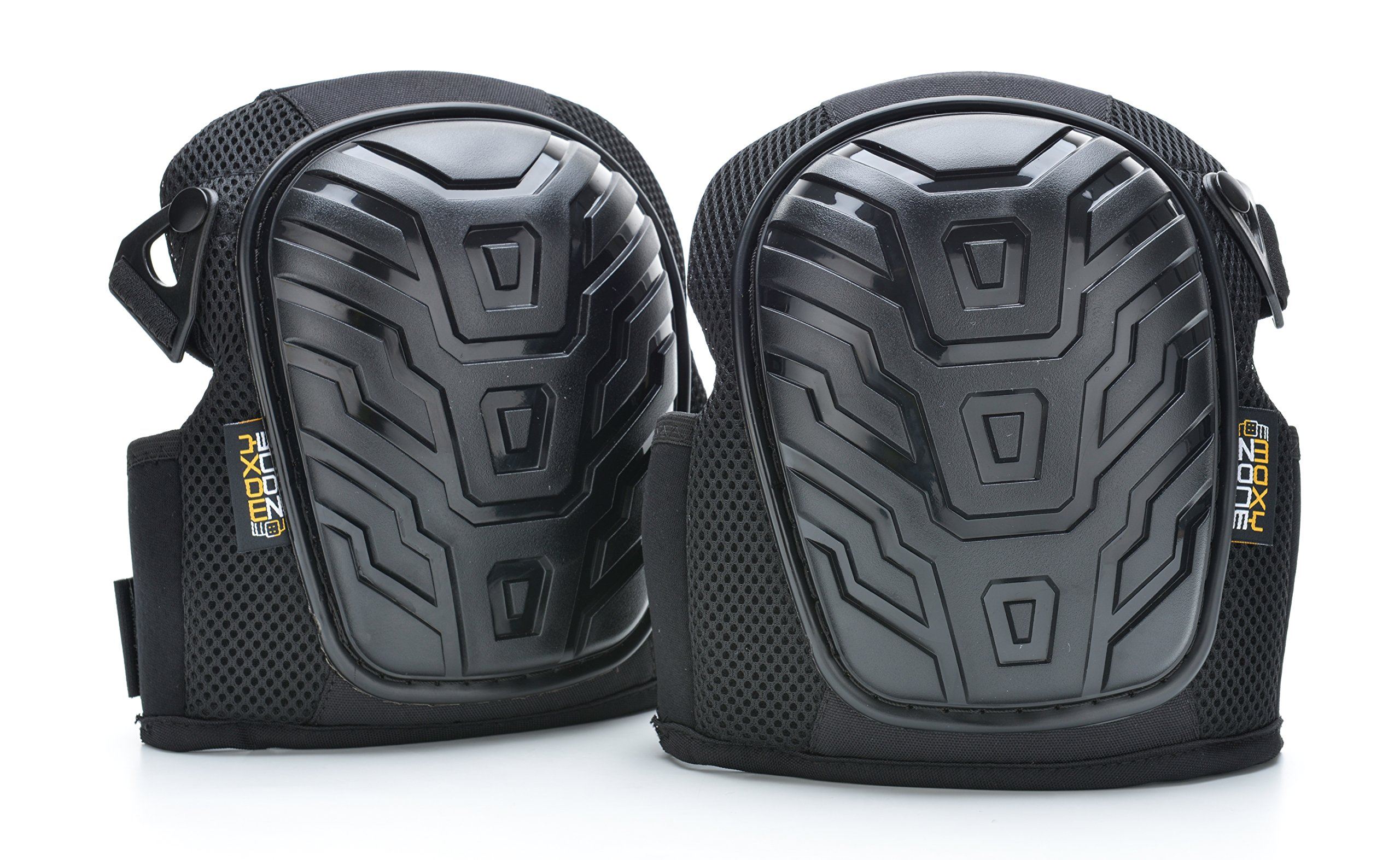 Moxy Zone Professional Knee Pads - Heavy Duty Foam Padded Shell and Comfortable Gel Cushion - Kneepads for Construction, Yard Work, Gardening, Flooring, Tile - Adjustable Straps for Men and Women