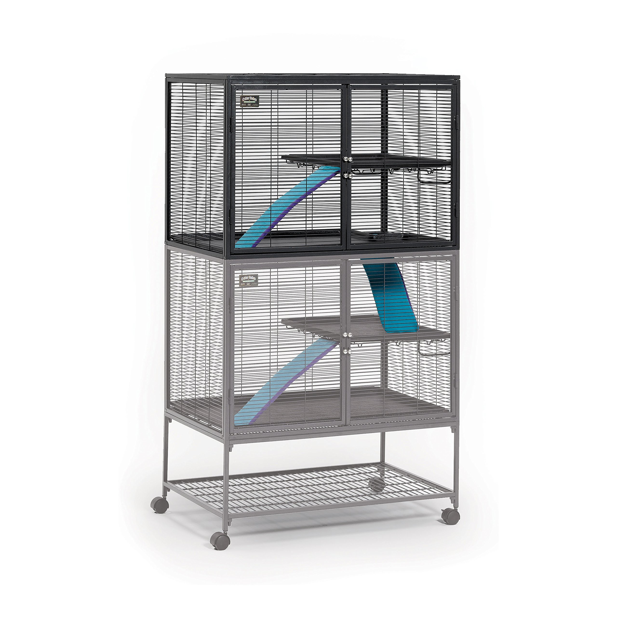 Midwest Deluxe Critter Nation Add-On Unit Small Animal Cage (Model 163) Includes 1 Leak-Proof Pan, 1 Shelf, 1 Ramp w/Ramp Cover. Compatible w/Critter Nation Models 161 & 162 by MidWest Homes for Pets