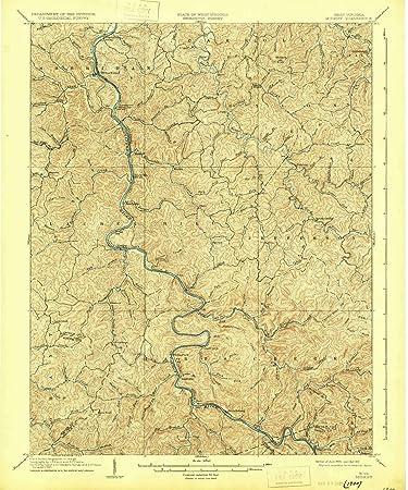 Amazon.com : YellowMaps Midkiff WV topo map, 1:62500 Scale ...