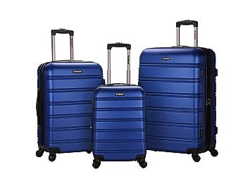 Amazon.com | Rockland Luggage Melbourne 3 Piece Set, Blue, One ...