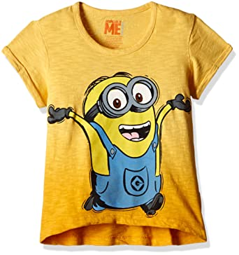 3b945cce Minions Girls' T-Shirt (MI1EGT2707_DAFFODILL_5/6): Amazon.in ...