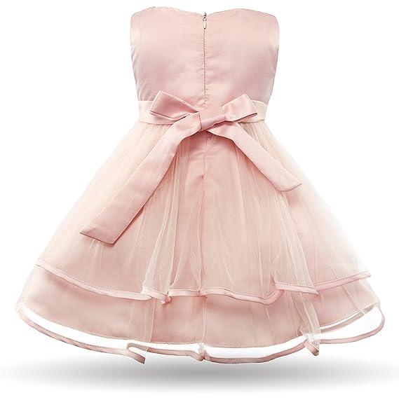 CIELARKO Vestito Neonata Bambino Battesimo Senza Maniche Pizzo Perle Bimba  Abito  Amazon.it  Abbigliamento 1cad5e4cf94
