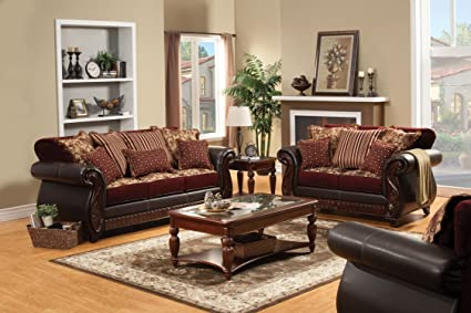 Amazon.com: Furniture of America Kildred 2-Piece Fabric and ...