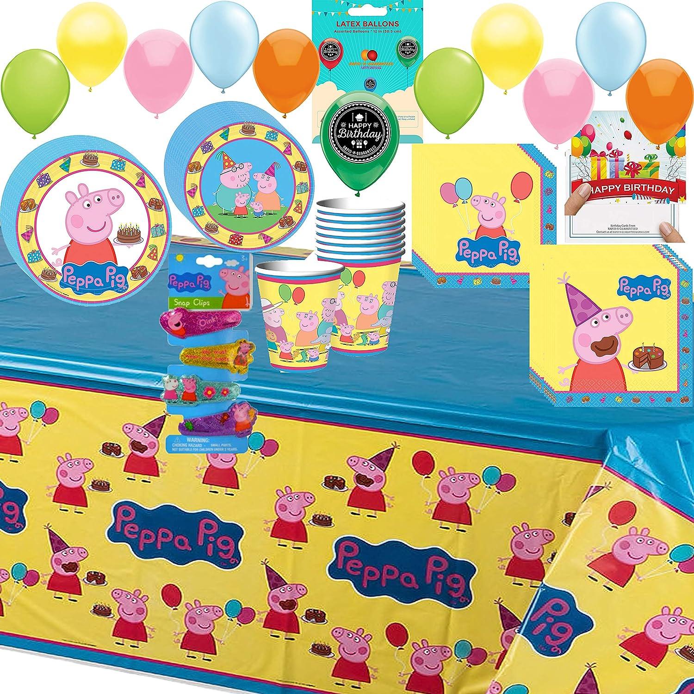 Amazon.com: Peppa Pig – Juego de servilletas y platos para ...
