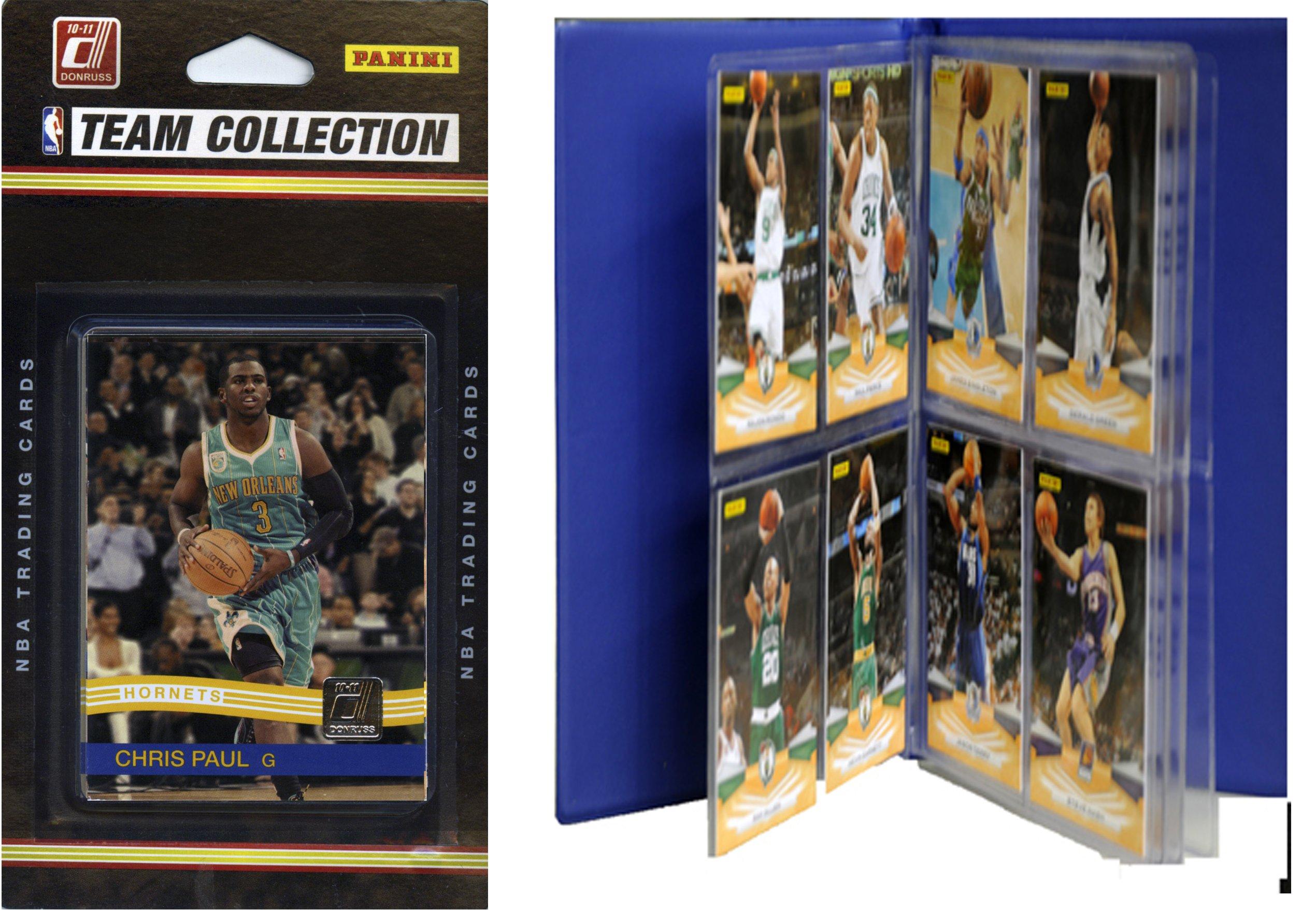 NBA New Orleans Hornets Licensed 2010-11 Donruss Team Set Plus Storage Album by C&I Collectables