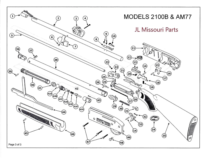 Amazoncom Jl Missouri Parts Crosman Pumpmaster 2100 B Brown Stock