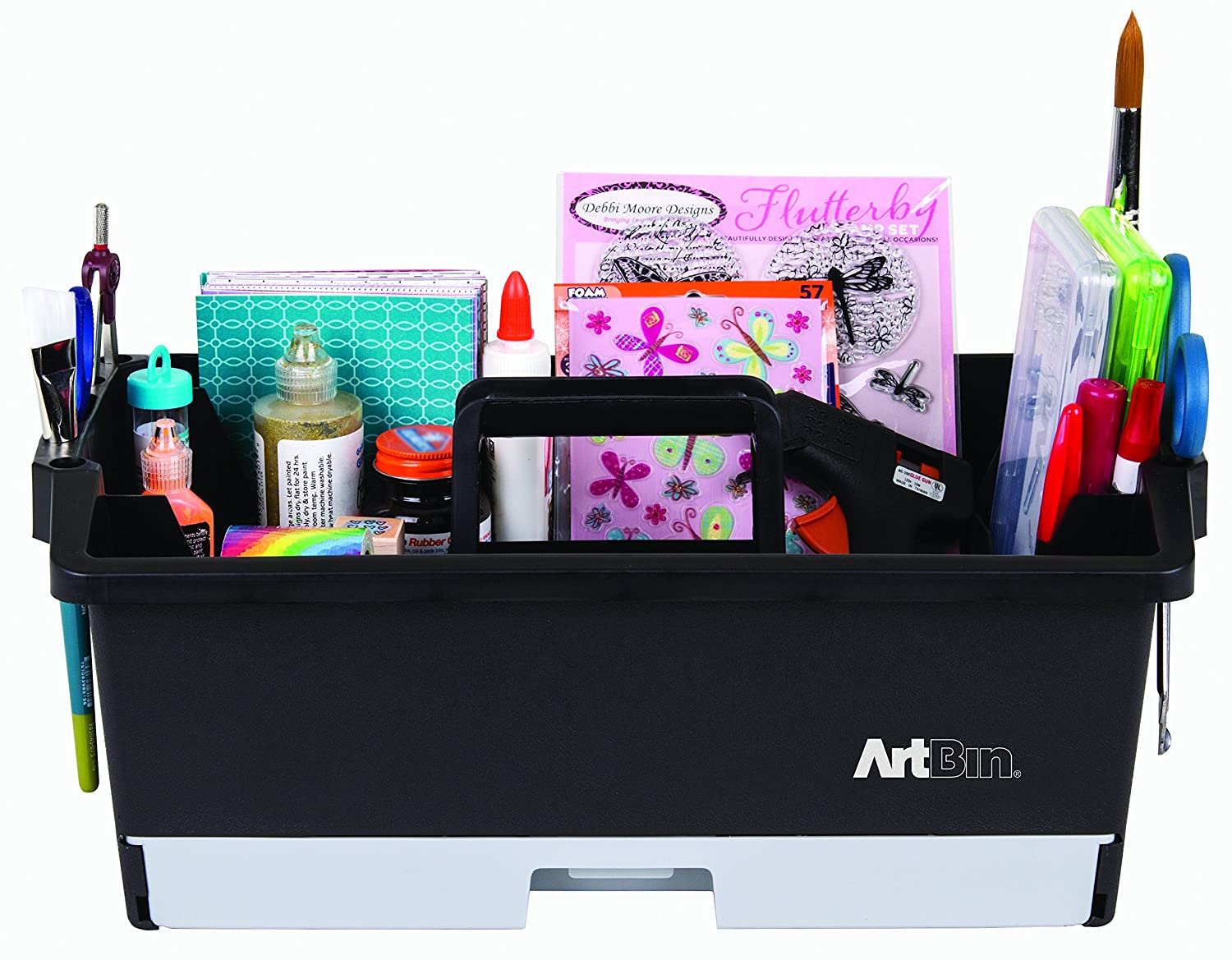 ArtBin Art/Craft Supply Caddy - black/Gray- 6963AG Flambeau Inc.