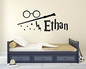 Superbe Custom Harry Potter Name Wall Decal   Harry Potter Wall Decals    Personalized Name Wand Vinyl