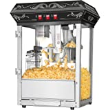 Great Northern Popcorn Black Good Time Popcorn Popper Machine, 8 Ounce