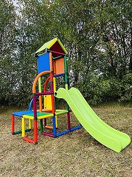 move and stic Toni Área de Juegos / Casa de Juegos Torre de Escalada con Tobogán para Niño Pequeño para Habitación Infantil o Sala de Juegos Genauso Apto como en el Jardín: