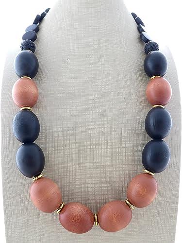 c10a5dd6781c Collar de madera marron y negra