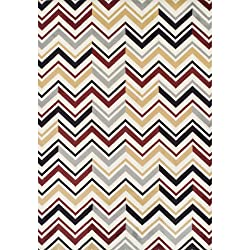 Achim Home Furnishings Ferrera Collection Area Rug, Chevron Pattern, 5.2 Ft. x 7.7 Ft.