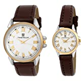 Timewear Formal Beige Dial Unisex Couple Watch - 901Wdtcouple