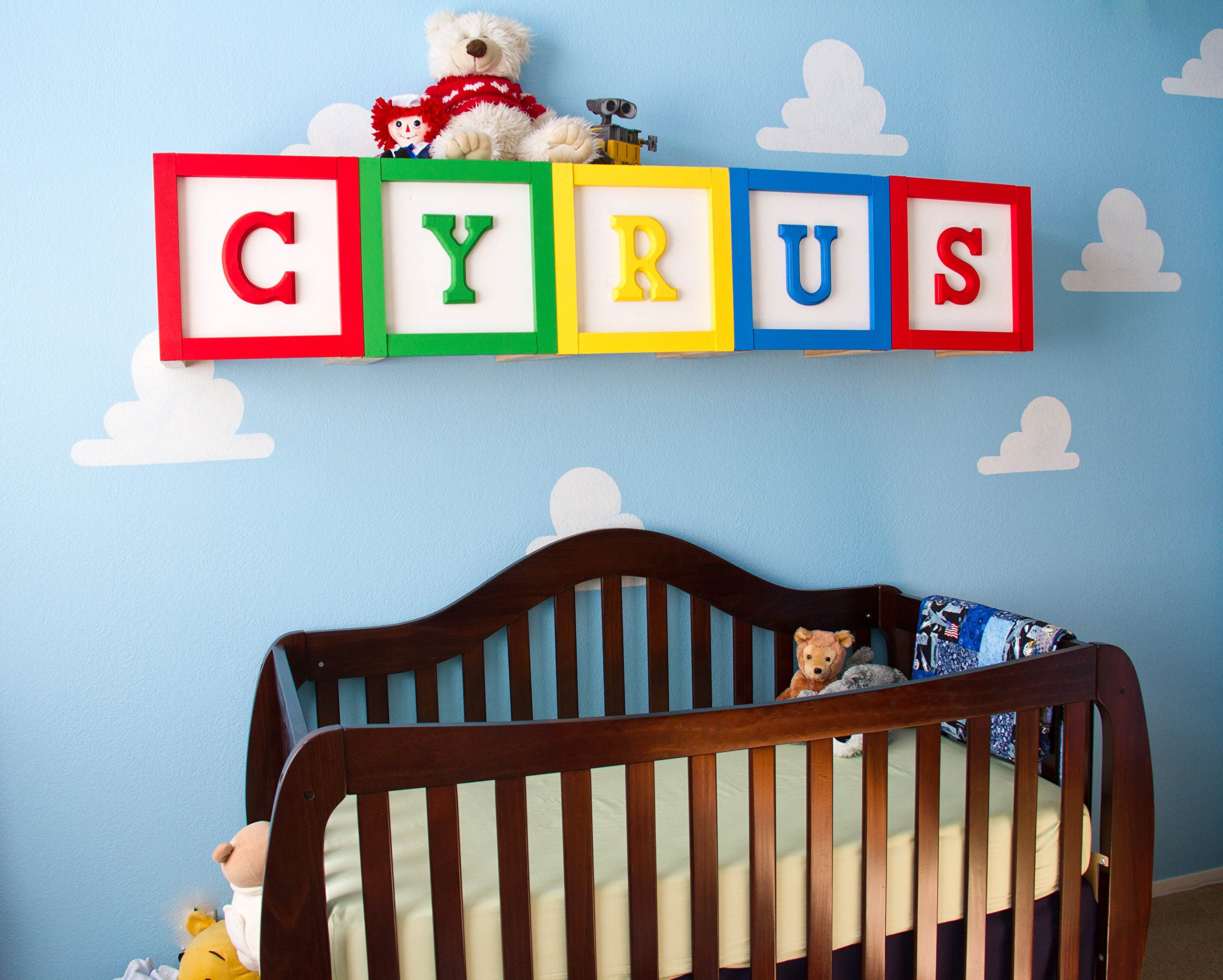 Cloud Stencil Set for Wall Decor: Reusable Stencils for a Kid's Toy Story Room or Andy's Room Nursery, 2-Pack Includes 1 Large and 1 Small Cloud Stencil by Living Lullaby Designs (Image #6)