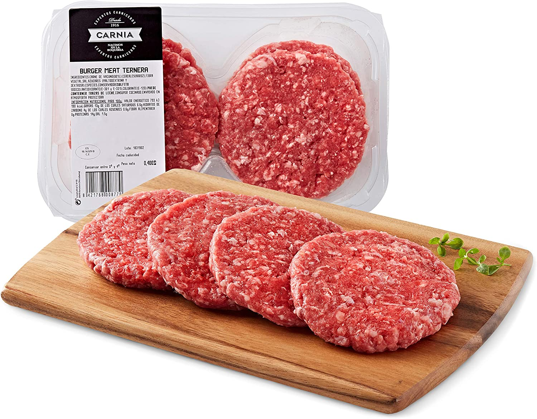 Carnia Hamburguesa 100% de Ternera, 400g: Amazon.es ...