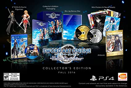[PS4]Sword Art Online: Hollow Realization - Collector's Edition [$189.99][Amazon CA]