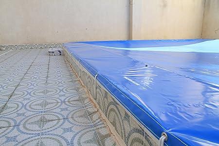 Tornillos de anclaje lona de piscina. Kit 20 Ud (20 tornillos acero inox + 20 tacos): Amazon.es: Bricolaje y herramientas