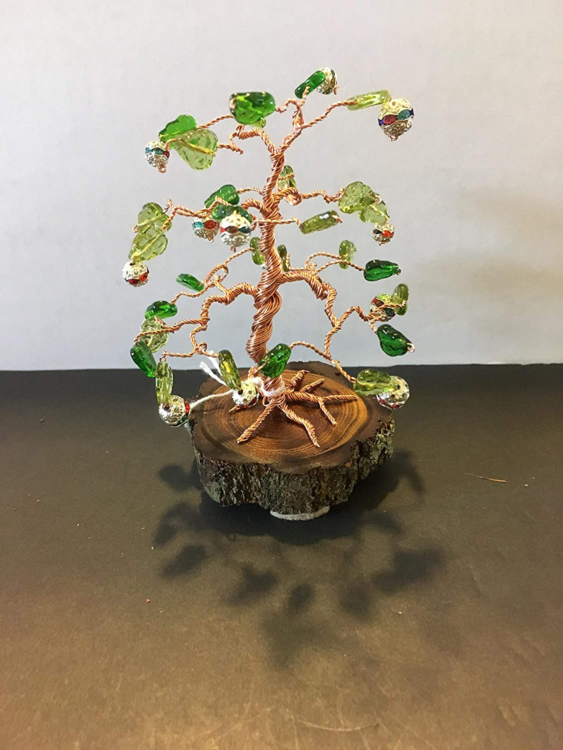 Amazon Com Copper Wire Bonsai Tree With Colorful Beads Handmade