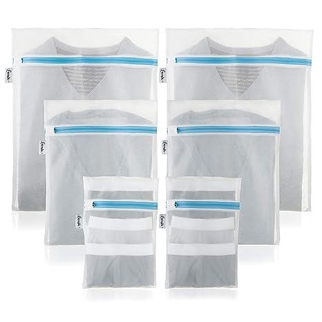 Premium Saco de ropa para lavadora (Juego de 6) - 2 años Garantía ...