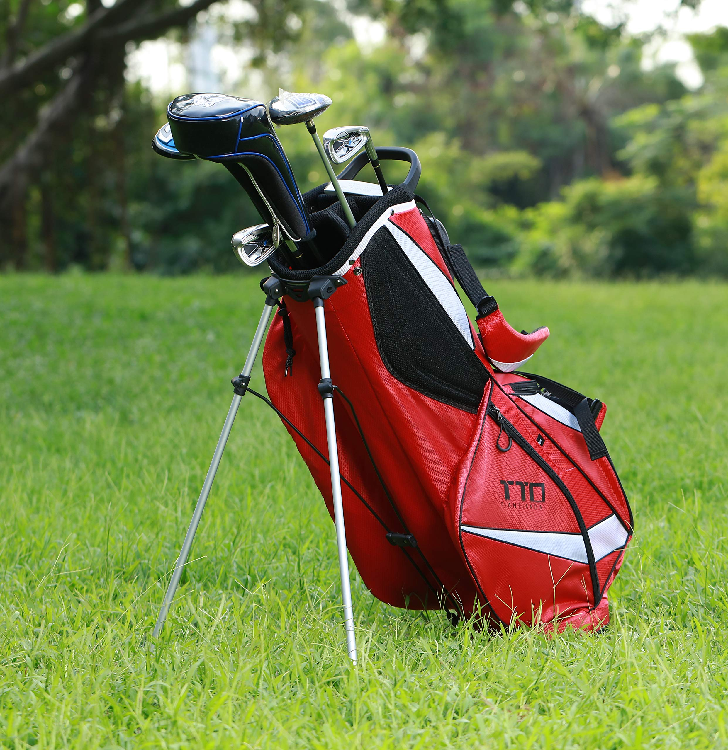 TTD TIANTIANDA Super Light Golf Stand Bag for Easy-Carry, Red