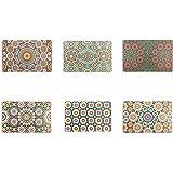 Villa d'Este Home Tivoli Marrakech Lot de 6sets de table, multicolore, 44x 28x0,1cm