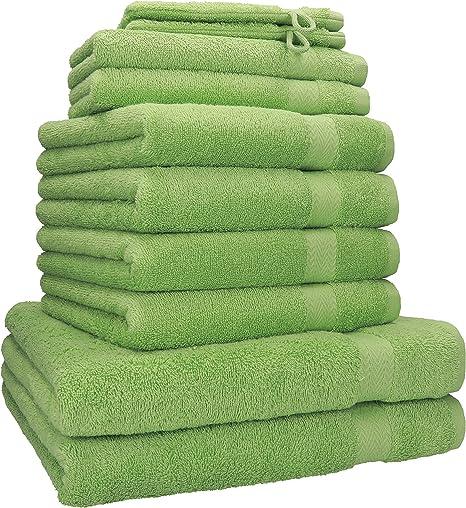 Betz Juego de 10 Piezas de Toallas Premium 100% algodón 2 Toallas de baño 4 Toallas de Mano 2 Toallas Invitados 2 Manoplas de baño Color Verde Manzana: Amazon.es: Hogar