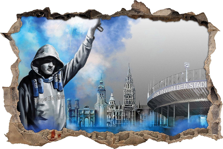 Ultras Art Sechzig Grunwalder 3d Wandsticker Format 62x42cm Wanddekoration Amazon De Kuche Haushalt