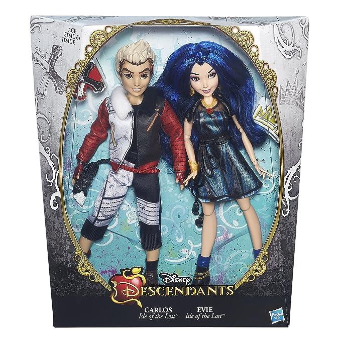 Disney Descendientes, 2 Unidades de la Isla de los Perdidos y Carlos Evie de la Lost muñecas: Amazon.es: Juguetes y juegos