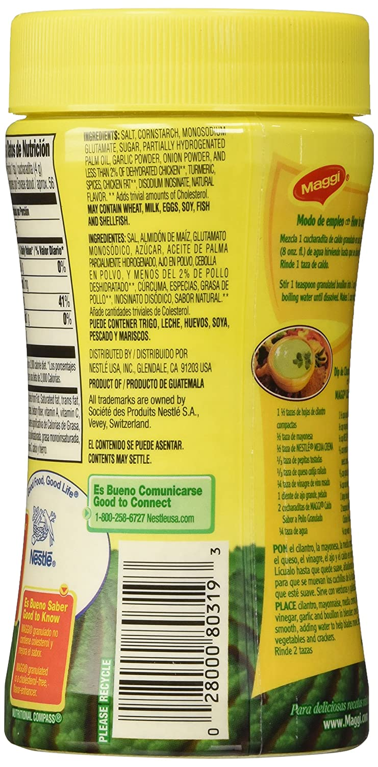 Amazon.com : Maggi Bouillon, Granulated Chicken, 7.9 Ounce (Pack of 6) : Packaged Chicken Bouillons : Grocery & Gourmet Food