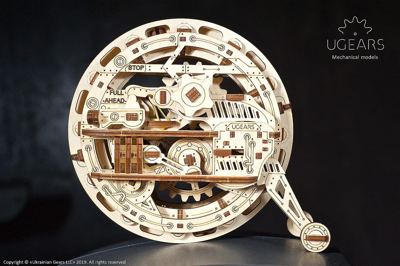 UGEARS mechanisches Monowheel 3D Puzzle Kit Bewegliches Einrad Holzpuzzle Bastelset und Denkaufgabe f/ür Erwachsene DIY Puzzle Lernspielzeug und Holzbausatz f/ür Kinder