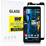 White Knight Tech Google Pixel 2 XL (2017) Tempered Glass Screen Protector | Case Friendly | Curved 3D Glass | 9h Hardness and 0.26mm Ultra-Thin | Anti-Fingerprint, Shatterproof | 99% Transparency
