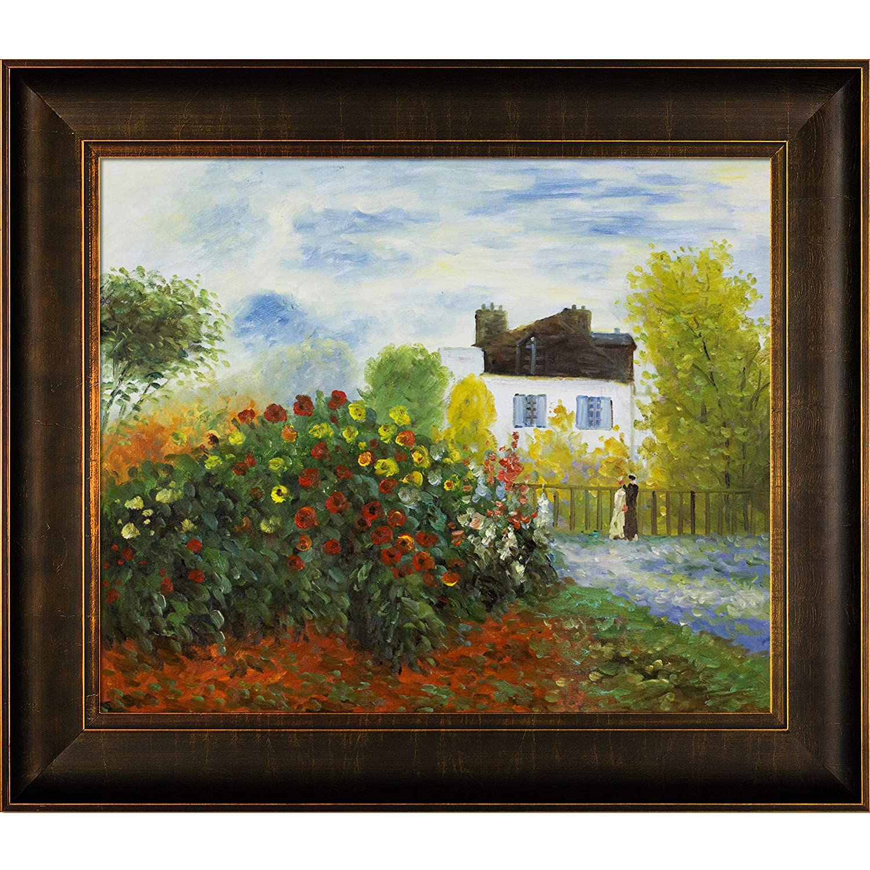 Bronze and Rich Brown Finish 1873 by Monet with Veine D Or Bronze Scoop overstockArt The Garden of Monet at Argenteuil