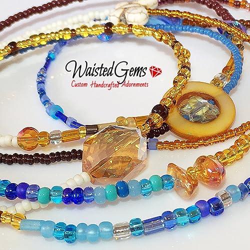 c82ce440f8 Amazon.com  One of a Kind Double Strand Waist Beads