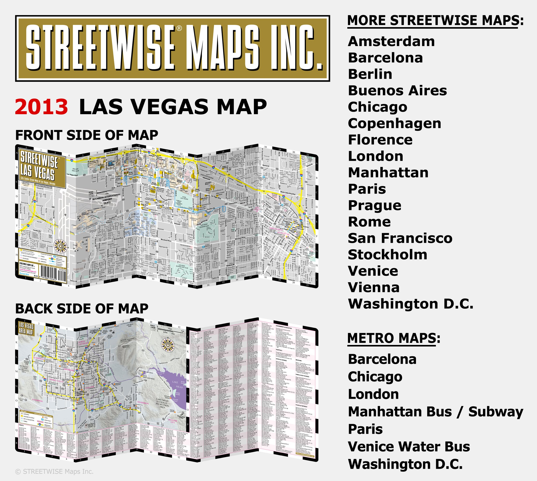 Streetwise Las Vegas Map  Laminated City Center Street Map of Las