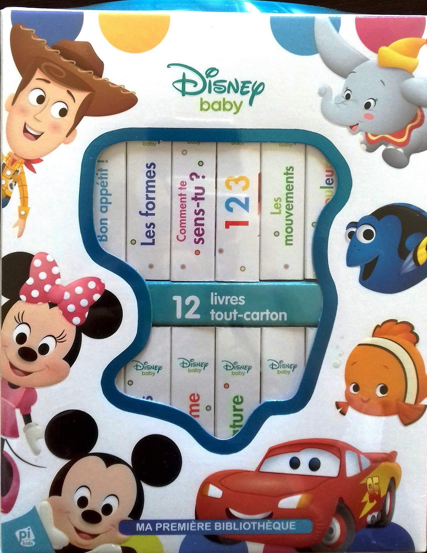 Ma Premiere Bibliotheque Disney Baby 12 Livres Cartonnes