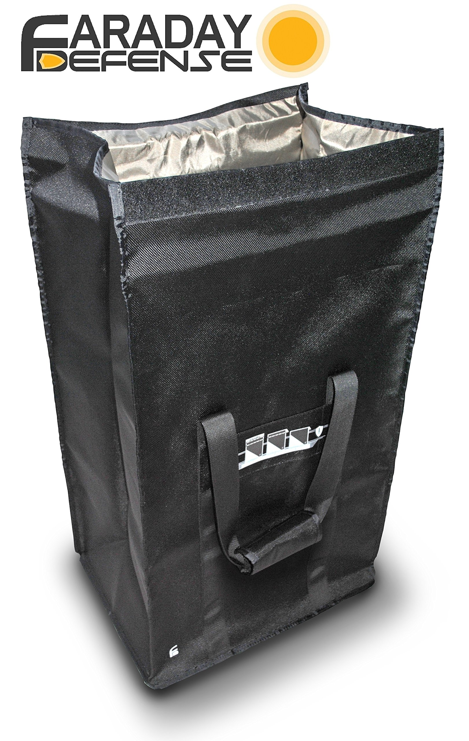 Faraday Defense Computer Tower Bag XL - Heavy Duty Black - Device Shielding for Military, Police, Electronics Suppliers